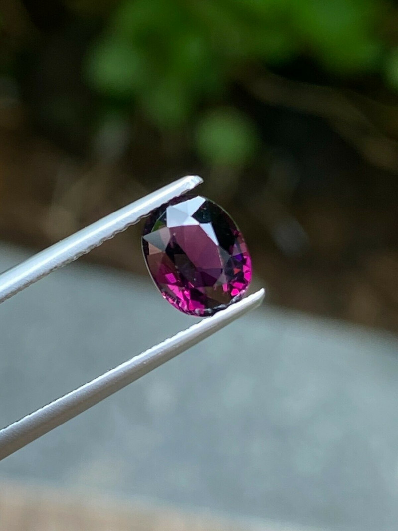 Natural Untreated Oval Cut Pinkish Purple color Spinel from Tanzania