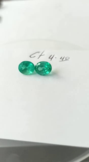4.40ct Colombian Emerald Pair
