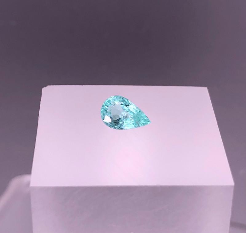 0.70 Certified Natural NEON BLUE PARAIBA TOURMALINE