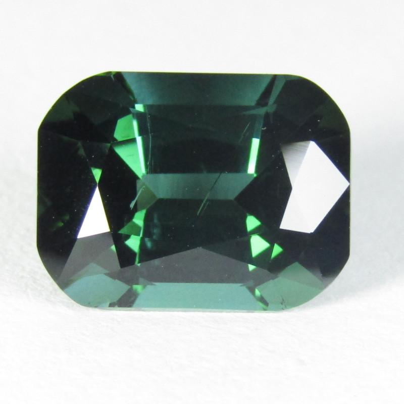 5.44Cts Natural Amazing Blue Green Tourmaline Fashion Emerald Cut REF VIDEO