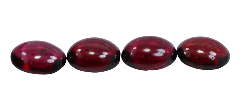 NR!! 3.40 CTs GGTI Certified~ Red Garnet Cabochon Lot