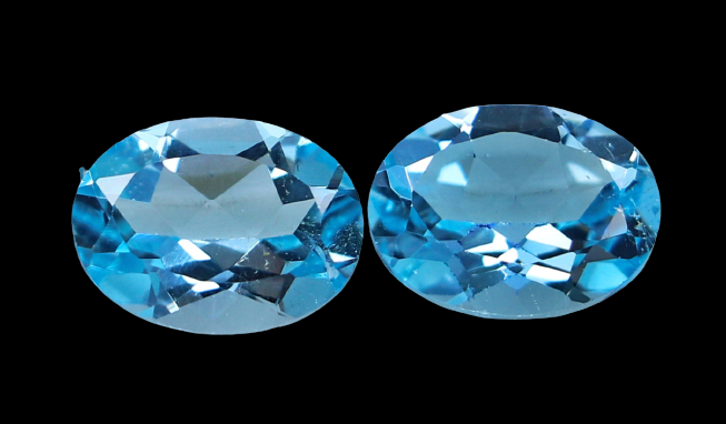 NR!! 3.80 CTs GGTI Certified~ Blue Topaz Gemstone Pair