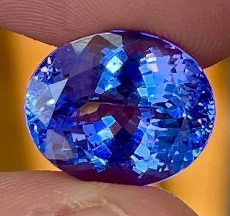 9.35 CT AAA Excellent Cut Rare Violet Blue Tanzanite - TNS01