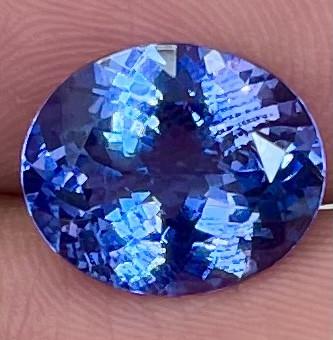 4.48 CT AAA Excellent Cut Rare Violet Blue Tanzanite - TNS03