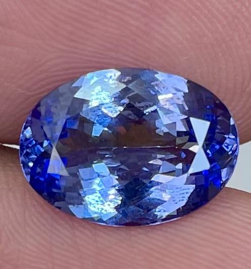 6.00 CT 14X10 MM AAA Excellent Cut Rare Violet Blue Tanzanite - TNS08