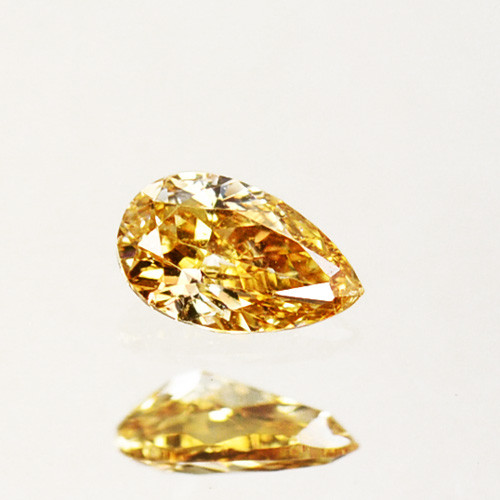 ~UNTREATED~ 0.16 Cts Natural Diamond Fancy Yellow Pear Cut Africa