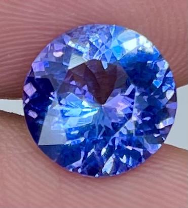3.30 CT AAA Excellent Cut Rare Violet Blue Tanzanite - TNS12
