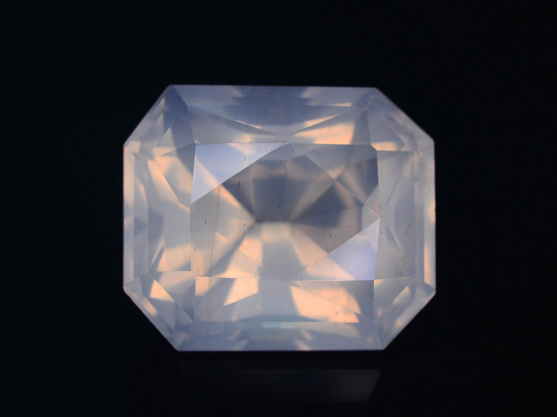 Rare Peach Pink 20.90 ct Feldspar Moonstone~Fancy Cut