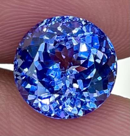 5.14CT 10X10MM AAA Excellent Cut Rare Violet Blue Tanzanite - TNS16