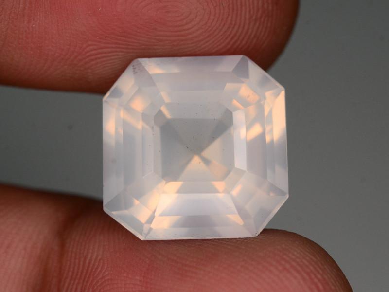 Rare Peach Pink 15.95 ct Feldspar Moonstone~Asscher Cut