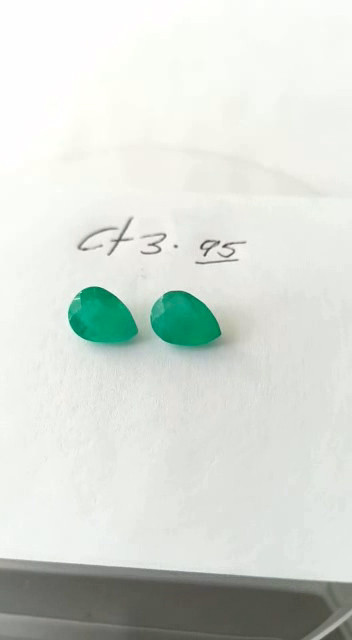 3.95ct Colombian Emerald Pair