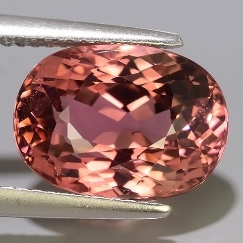 7.00 Ct. Attractive Natural Pink Tourmaline Gemstone Oval Dazzling!!