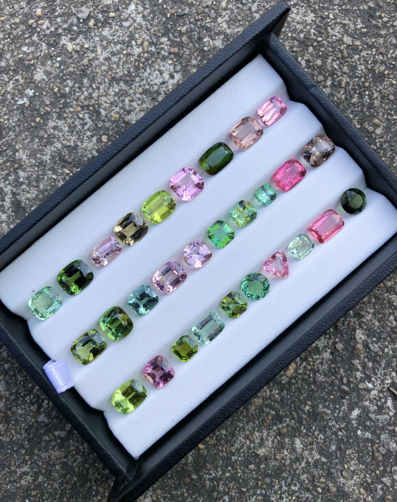 47 ct Attractive Colors Tourmaline All Custom cut Parcel