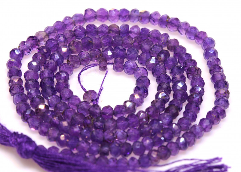 23 CTS AMETHYST DRILLED FACETED BEAD STRAND  NP-2761