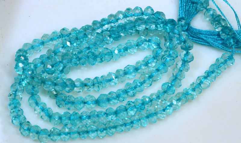 29.5 CTS BLUE TOPAZ FACETED DRILLED BEADS NP-2767