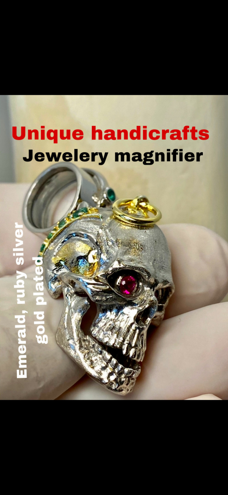 EMERALD, RUBY SILVER GOLD PLATED  THE BEST-  I DISCONNECT MY COLLECTION.  A