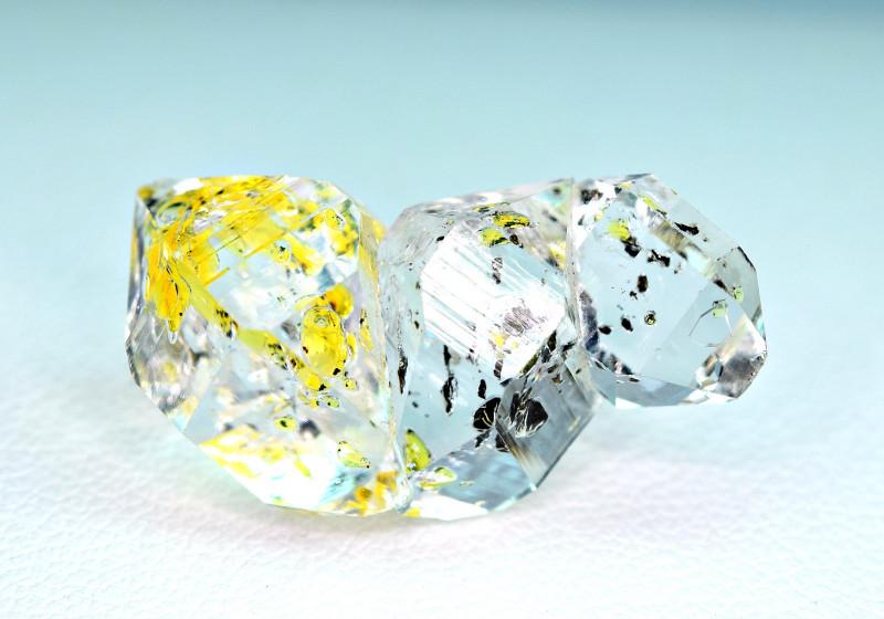 16.50Carat Full Terminated undamaged Petroleum Diamond Quartz Crystals @PAK
