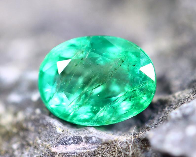 2.13cts Natural Zambian Top Quality Green Emerald / ET418