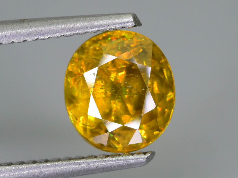 Rare AAA Fire 2.42 ct Malayaite Sphene Sku-76