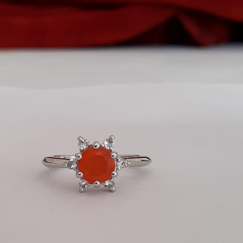 Carnelian 925 Sterling silver ring #586