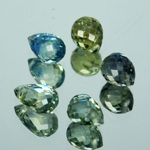 2.13 Cts Natural Green Sapphire  Briolette Parcel Drilled