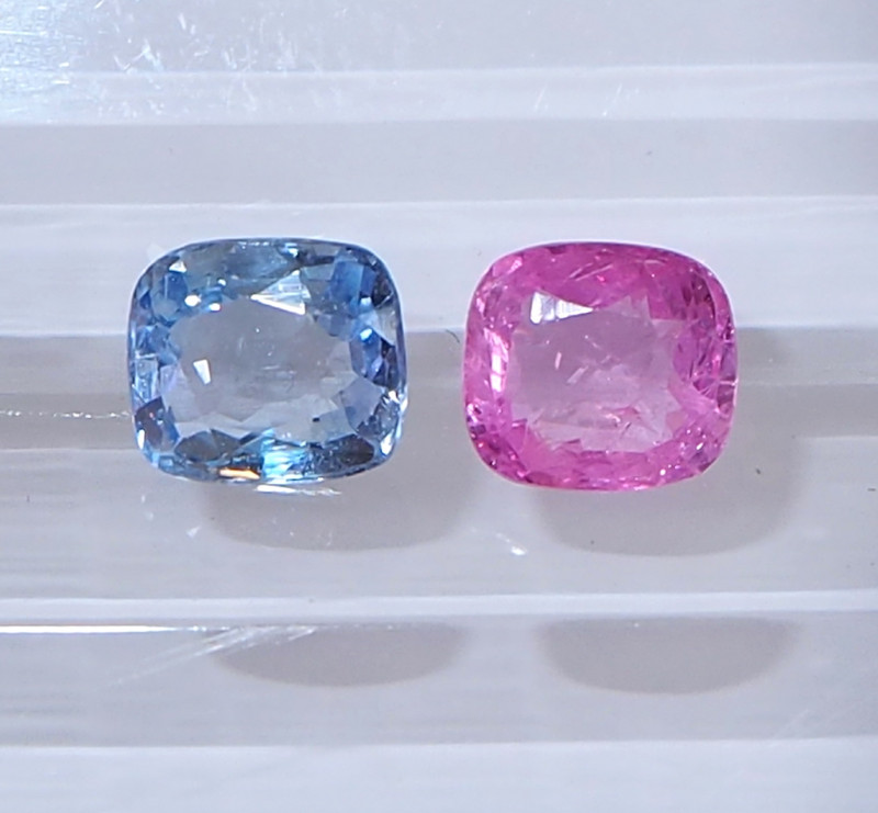 1.56ct unheated pink and blue sapphire