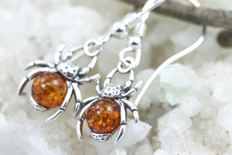 Natural Baltic Amber Earrings   code GI 1692