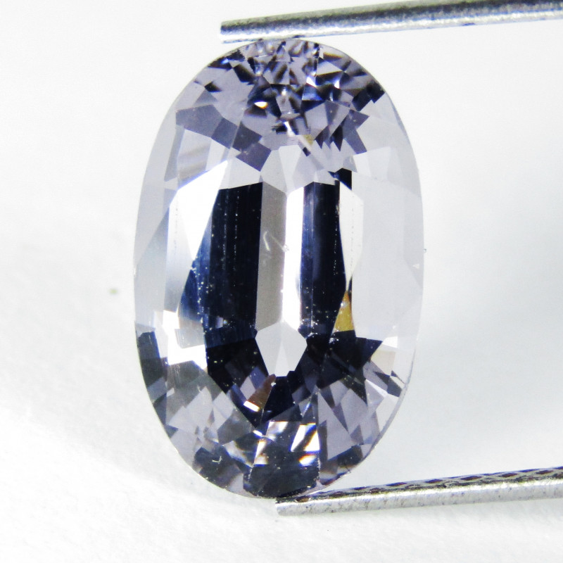 2.93Genuine Unheated Gray Color Spinel Oval Shape Loose Gemstone REF VIDEO