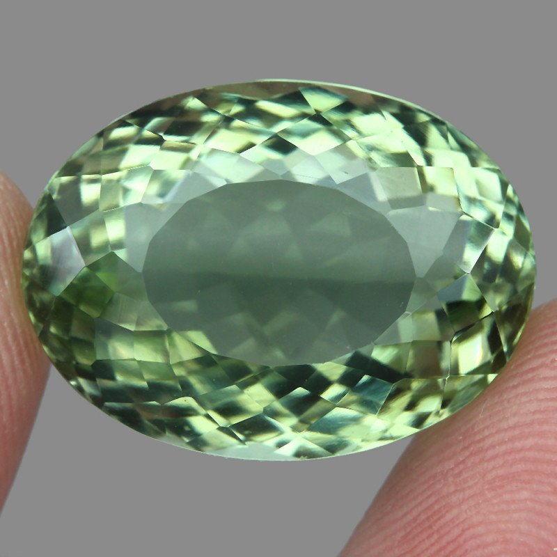 Big Clean 33.76ct  Natural Earth Mined  Top Rich Green  Prasiolite Explode