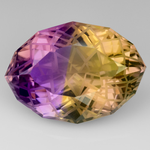 15.75 CT BOLIVIAN AMETRINE MASTER CUT GEMSTONE AT6