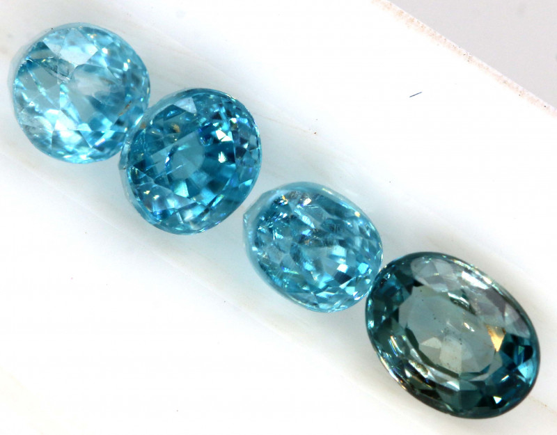 2.70  CTS BLUE ZIRCON FACETED STONE (4 PCS)   PG-1435
