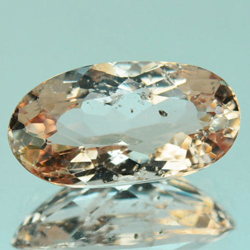 2.04 Cts Natural Peach Pink Morganite Oval Shape Brazil