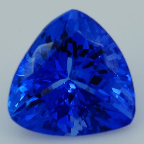 $500 1.98CT 8X8MM AAAA Excellent Cut Rare Violet Blue Tanzanite -TN84
