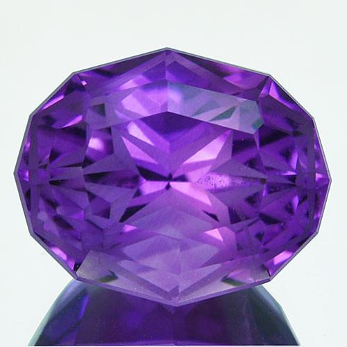 ~CUSTOM CUT~5.38 Cts Natural Purple Amethyst Fancy Oval Bolivia