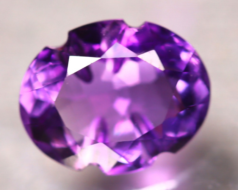 Amethyst 3.80Ct Natural VVS Uruguay Electric Purple Amethyst E1709/A2