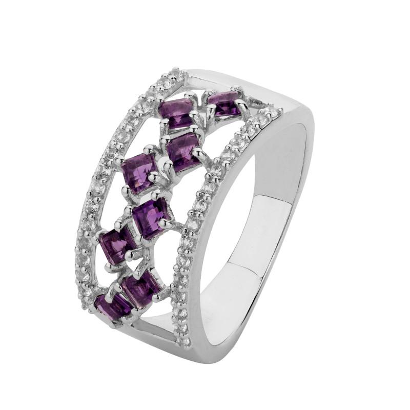 Amethyst 925 Sterling silver ring #36566