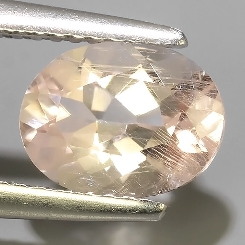 1.60 CTS EXCELLENT NATURAL LUSTER-PEACH~PINK MORGANITE OVAL GEM!!