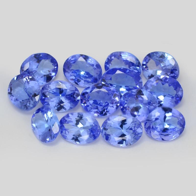 *NoReserve*Tanzanite 4.78 Cts 14 pcs Calibrated 5 MM Rare Violet Blue Color