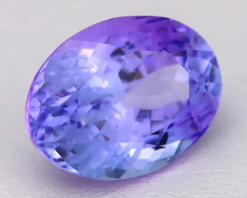 5.02Ct Natural Blue Tanzanite VVS Flawless Oval Master Cut A1812