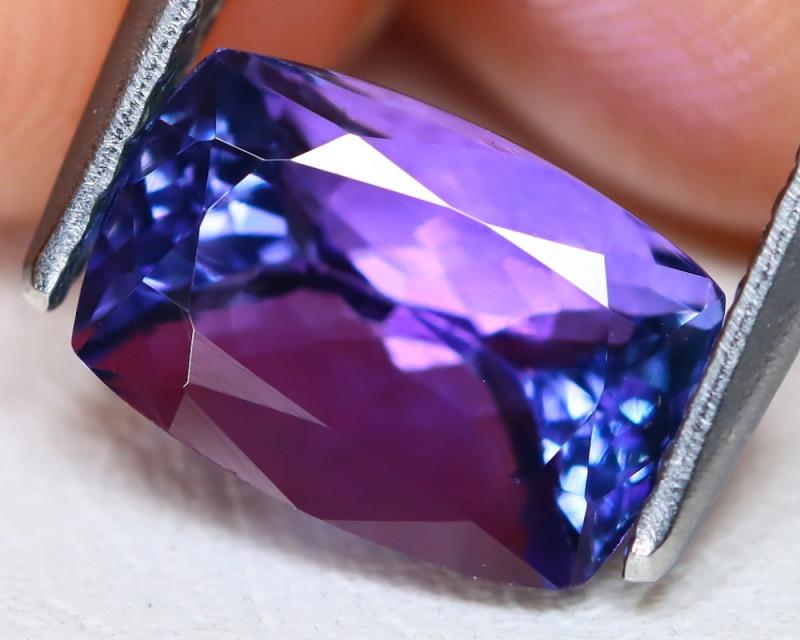 Tanzanite 2.38Ct VS Octagon Cut Natural Purplish Blue Tanzanite C1805