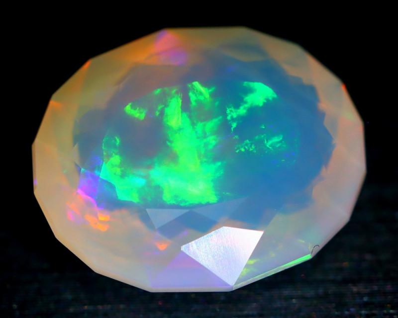 6.86Ct Flash Neon Purple Color Play Welo Fire Opal Oval Cutting B1813