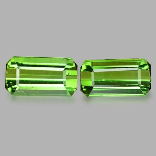 Tourmaline 4.16 Cts 2 Pcs Natural  Green Loose Gemstone