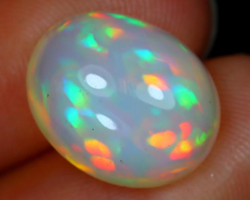 5.13Ct Prism Aurora Pattern Neon Rolling Flash Welo Opal B2014