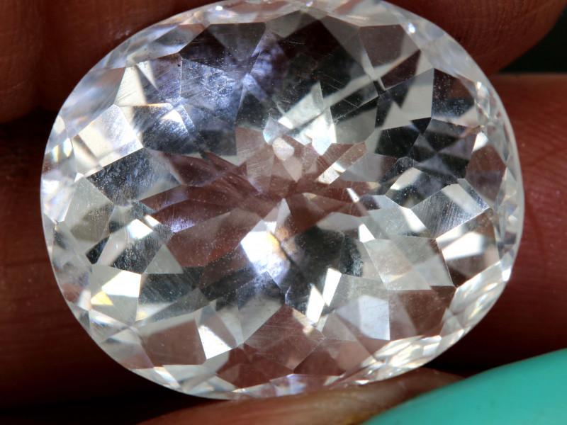 Clear quartz gemstone