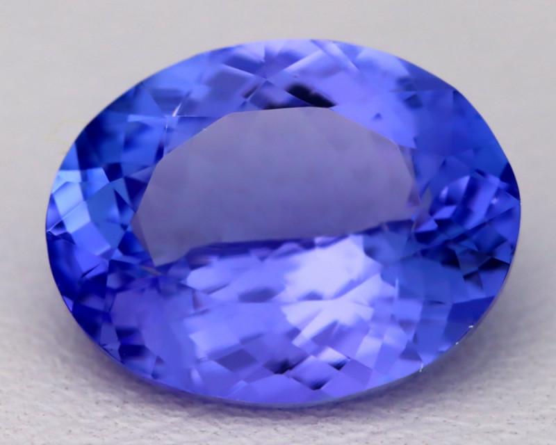 4.53Ct Natural Vivid Blue Tanzanite IF Flawless Oval Master Cut B2304
