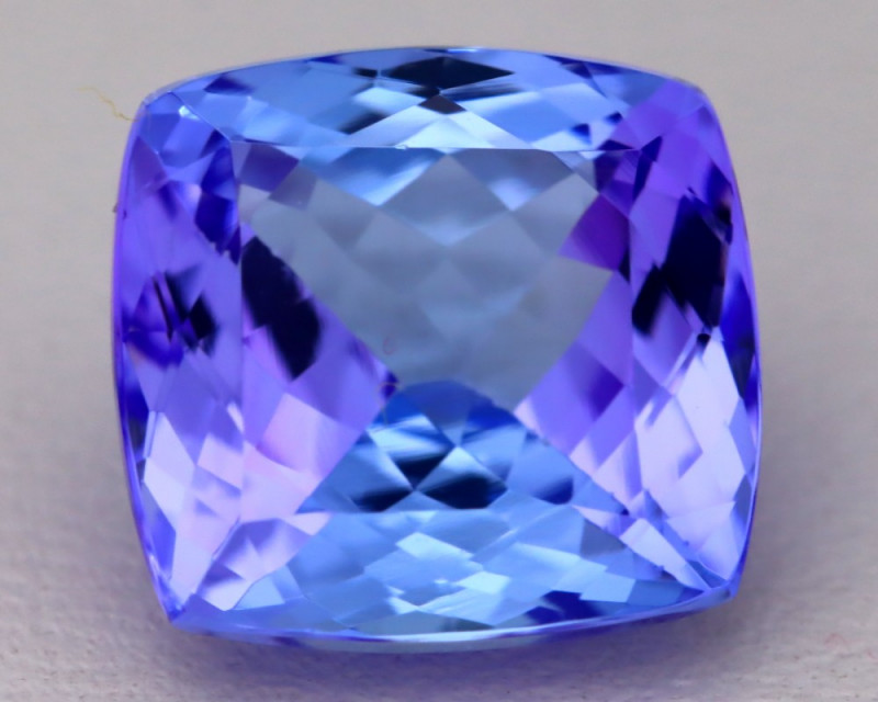 6.78Ct Natural Vivid Blue Tanzanite IF Flawless Octagon Master Cut B2308