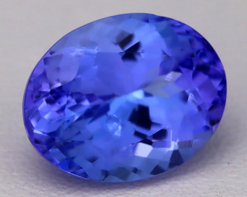 4.34Ct Natural Vivid Blue Tanzanite IF Flawless Oval Master Cut B2311