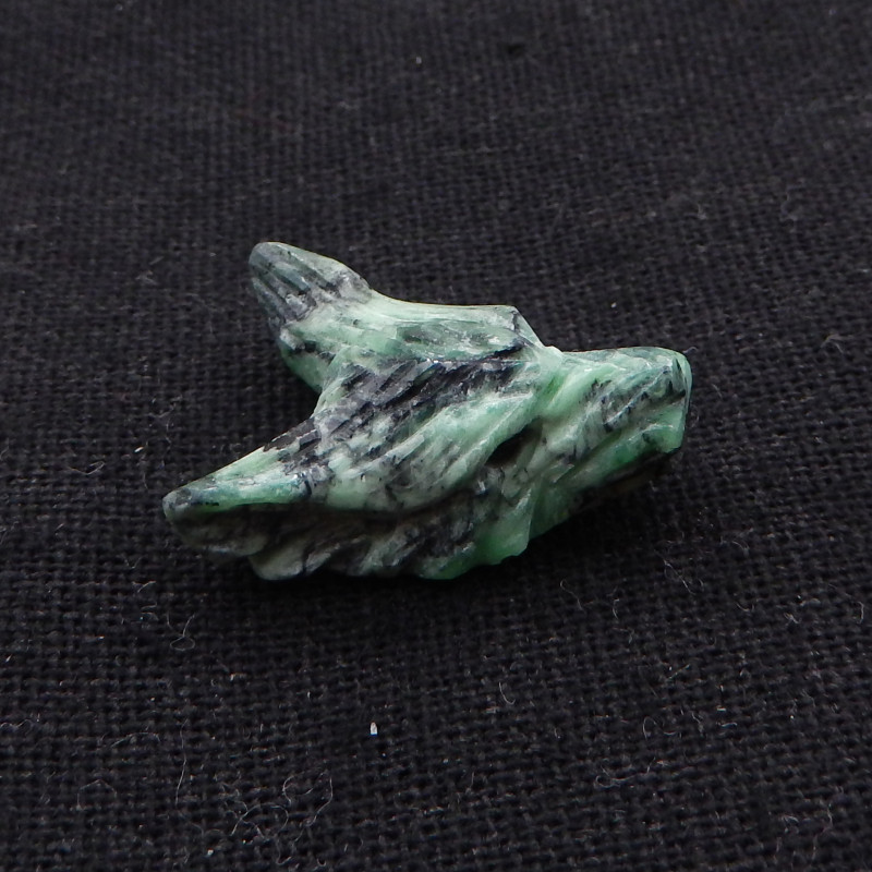 16.5cts Hand Carved Wolf Pendant ,green turquoise  Wolf ,Wolf Head Pendant