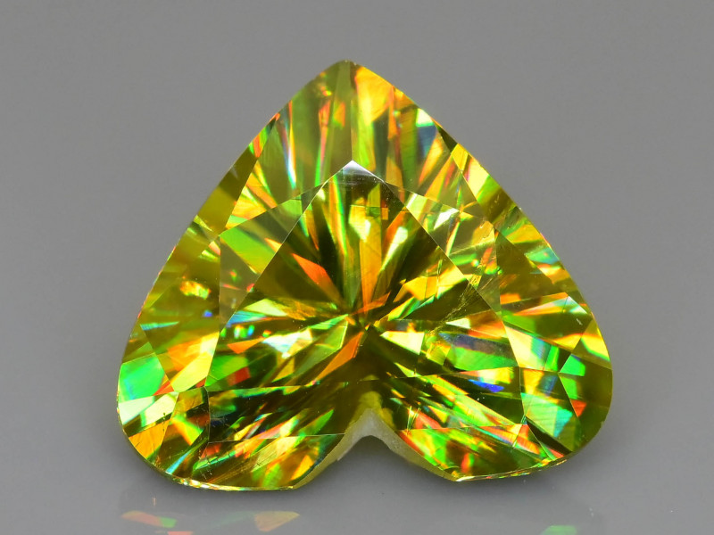 AAA Fire 5.01 ct Sphene Rainbow Color Dispersion Tanzania Mined Sku-78