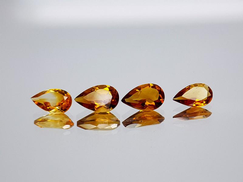 2.25Crt Madeira Citrine Lot Natural Gemstones JI09